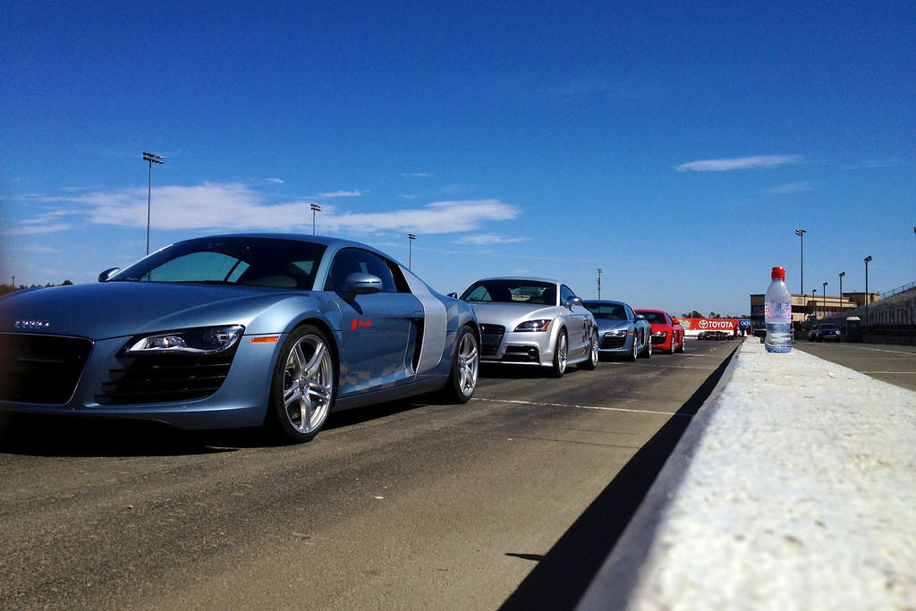 Our Audis at the Starting Line